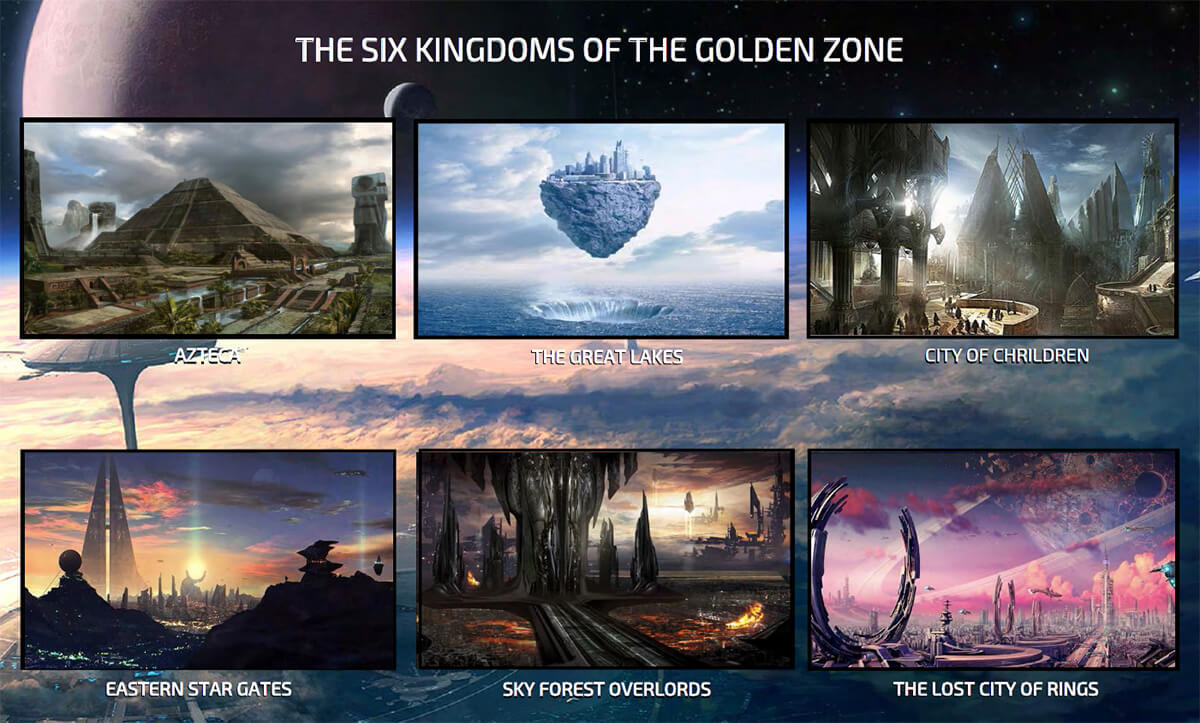 Illustration #3 - THE SIX KINGDOMS OF THE GOLDEN ZONE
