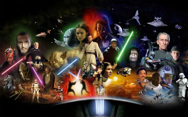 Star Wars collage image